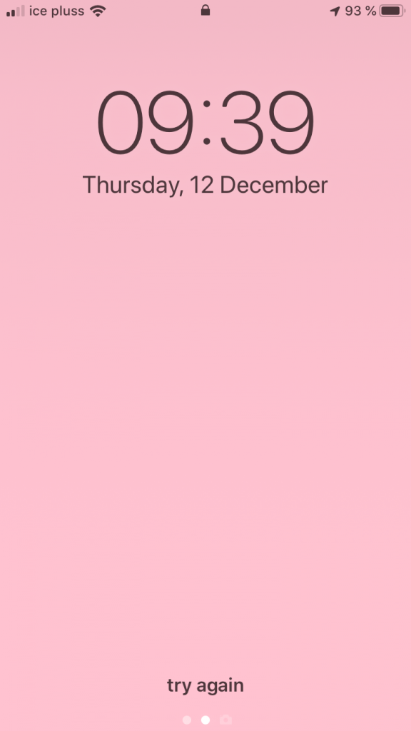 Pink lock screen